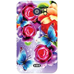 Micromax Canvas 2 A110 Back cover - Bunch Of Flowers Designer cases