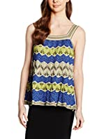 M Missoni Top (Azul / Amarillo / Beige)