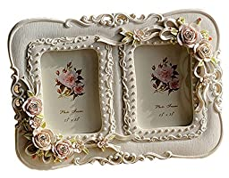 Giftgarden® Double Picture Frame 2.5x3.5 Inch, White