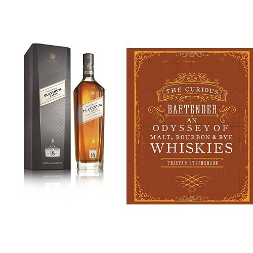 discount duty free Johnnie Walker Platinum Label Blended Scotch Whisky and The Curious Bartender: Malt, Bourbon & Rye Whiskies Book