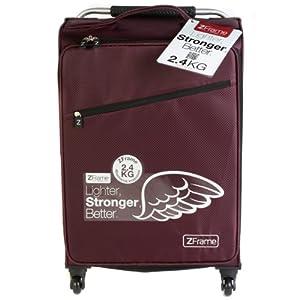 """Zframe Super Lightweight Luggage Suitcase 22"""" Aubergine from Constellation"""