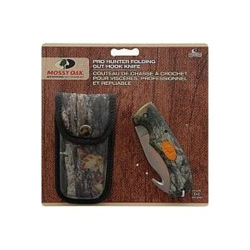Mossy Oak Pro Hunter Folding Field Gut Hook Knife (Break-Up)