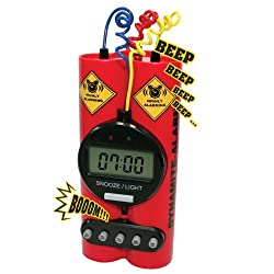 Dynamite Alarm Clock by Mint Concepts