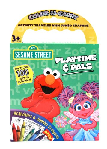 Playtime & Pals Sesame Street Color N Carry Activity Traveler with Jumbo Crayons