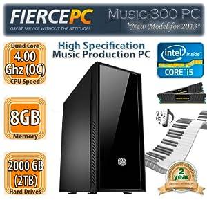 Fierce Music 300, High Spec, Fast, MultiMedia, Whisper Quiet, Music Production, Desktop, PC, Computer | Intel Quad Core i5 3570K 4.0GHz (OC), 8GB 1600MHz RAM, 2TB Hard Drive, DVD ReWriter, Corsair 600W Power Supply, Cooler Master Silencio | Designed to work with: Steinberg Cubase, Ableton Live, Avid Pro Tools etc.