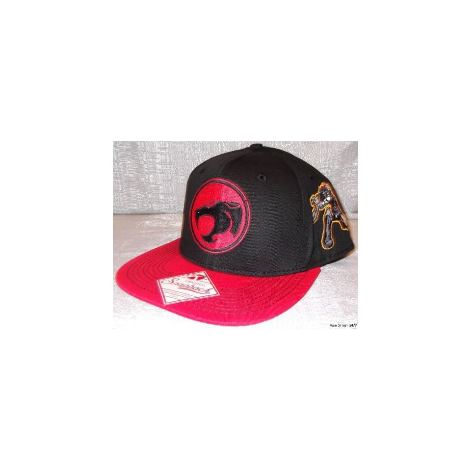 dd3b715d19c THUNDERCATS Logo Embroidered Snapback Flatbill Baseball CAP  HAT on ...