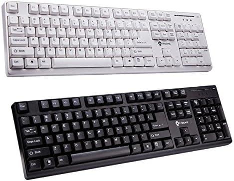 ゲーミング キーボード ゲーミングキーボード cherry社 茶軸風タッチ FPS MMO i-rocks KR-6260 POM Material Plunger Design 英語104キー配列 (ホワイト)