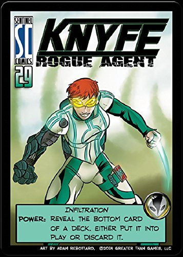 Sentinels of the Multiverse : PRIME WARDEN HERO Expansion Promo - KNYFE Rogue Agent - 1