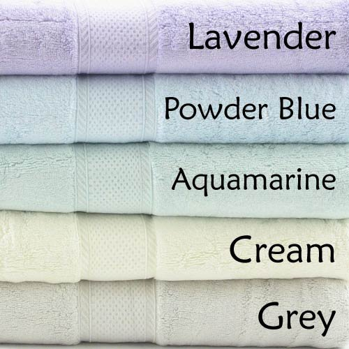 Luxury Heavy Weight 70% Rayon from Bamboo 30% Organic Cotton Bath Towel Set 700 GSM - 6 Pieces - Aquamarine