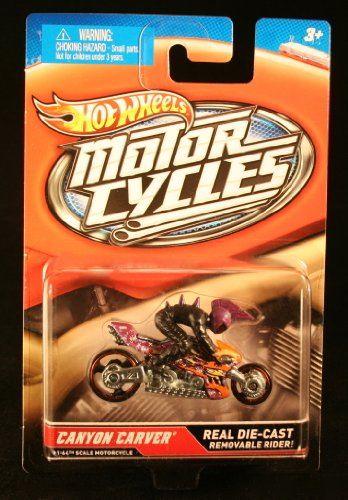 CANYON CARVER * MOTORCYCLE & RIDER * Hot Wheels 1:64 Scale 2012 Die-Cast Vehicle