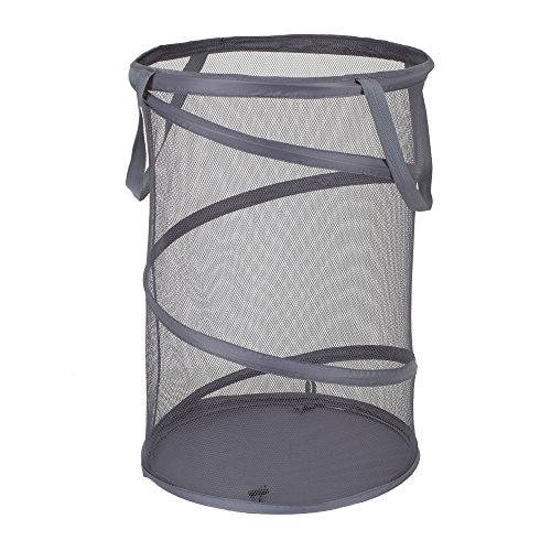 Household Essentials Pop-Up Mesh Laundry Hamper, Charcoal (Household Essentials Laundry Bag compare prices)