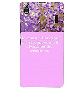 PrintDhaba Quote D-3721 Back Case Cover for LENOVO A7000 PLUS (Multi-Coloured)