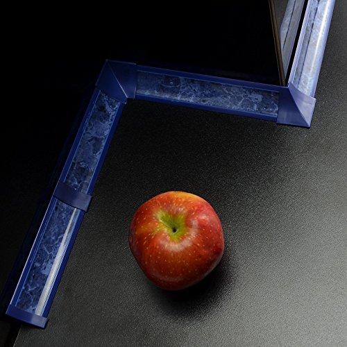 SET joint de plan de travail - 3m - couleur: marbre bleu avec accessoires