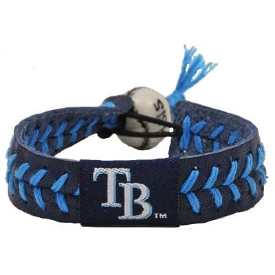 Tampa Bay Rays Team Color Gamewear MLB Leather Baseball Bracelet