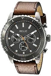 Relic Men's ZR15809 Analog Display Analog Quartz Brown Watch