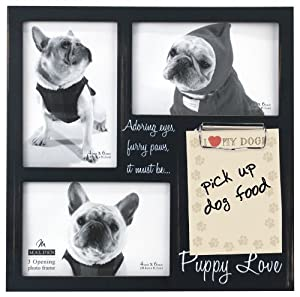 Malden Memory Clip Black Wood Picture Frame, Puppy Love