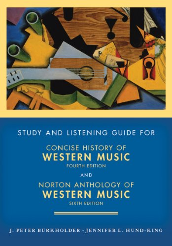 Study and Listening Guide: for Concise History of Western...