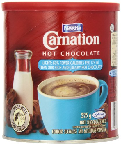 Carnation Hot Chocolate Light, 225g Canister