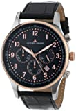 Jacques Lemans Men's 1-1735C London Sport Analog Black Leather Strap Watch