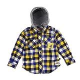 Kanz - Camisa con capucha de manga larga para niño, talla 4 años (104 cm), color multicolor 4019