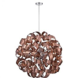 Quoizel RBN2831SG Ribbons Foyer Piece Chandeliers