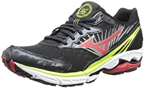 Mizuno Men's Wave Rider 16 Running Shoe,Anthracite/Red,11 D US