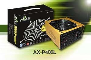 AXLE ATX PC Netzteil 400 Watt, 1xPCIe, 3xSATA, TYPHOON temperaturgeregelt, sehr leise