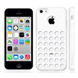 Minisuit TPU Holes Design Case Cover for iPhone 5C (White)
