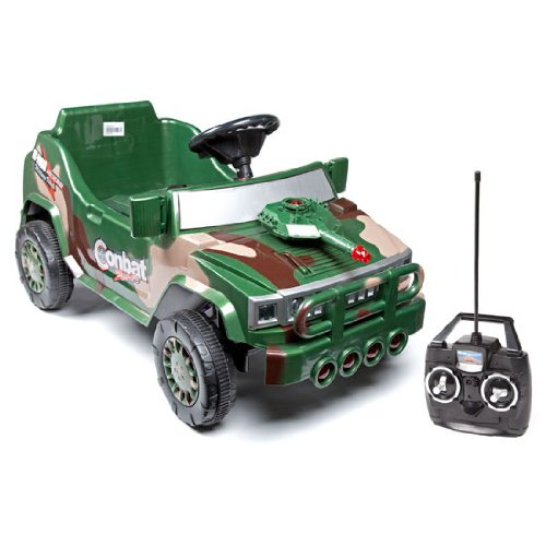 Combat Zone Attack Hummer With Rc Transmitter Child Size Electric Car