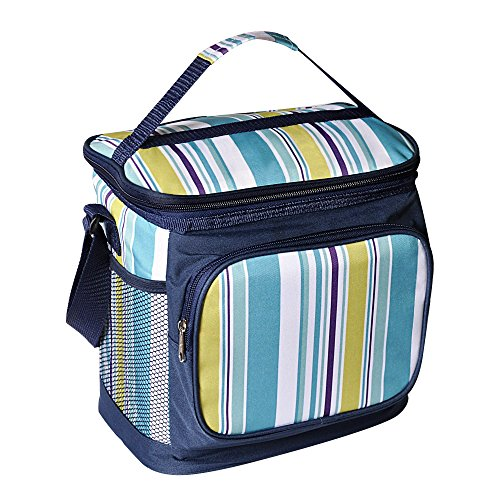 luyada-16-can-picnic-cooler-bag-lunch-bag-sapphire-white-stripe