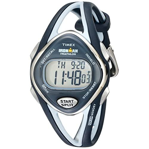 Timex Sport Ironman Midsize Quartz Strap Watch with LCD Dial Digital Display and Grey Resin - T5K038