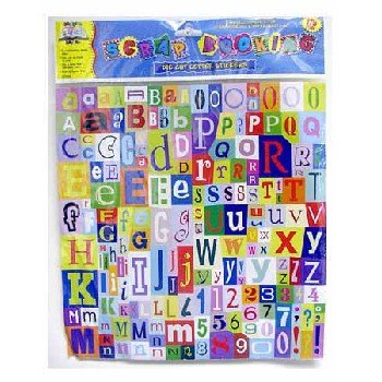 Scrapbooking Die Cut Letter Stickers Case Pack 