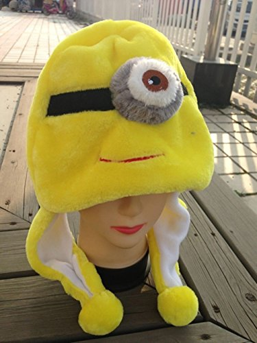 New Despicable Me 2 COSPLAY HAT Minion One Eye Stuart Stuffed Christmas Warm Hat