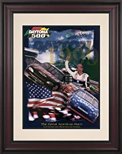 NASCAR Daytona 500 Program Framed Vintage Advertisement Race Year: 41st Annual - 1999 by Mounted Memories
