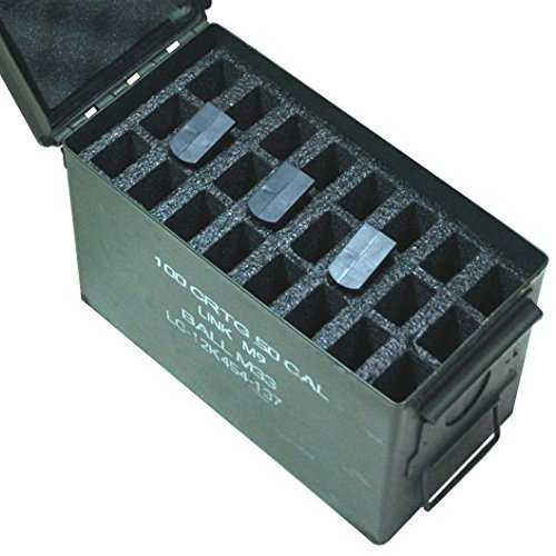 Case Club 24 Magazine Holder .50 Cal Ammo Can Foam (Pre-cut, Closed Cell, Military Grade Foam) (Ammo Cans Military compare prices)