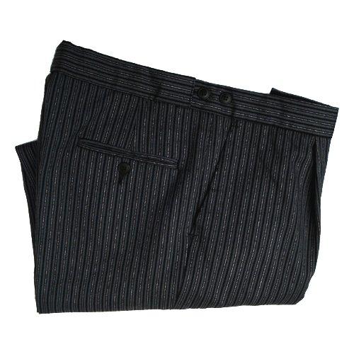 Poly-Wool Morning Stripe Trousers Waist 34