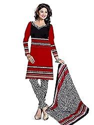 BAPUJI PRINT - WOMEN'S COTTON UNSTITCH DRESS MATERIALS - FULKI-108