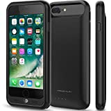 iPhone 7 Plus Battery Case, Press Play (Apple MFi Certified) [Nero7] 120% Extra Charging Power Extended Portable Slim Protective Charger Juice Pack (Black)