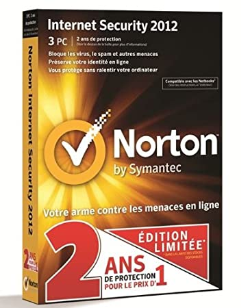 Norton internet security 2012 (3 postes, 2 ans)