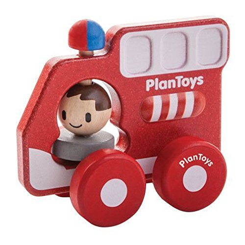 Plan Toys Fire Truck Min Vehicle - 1
