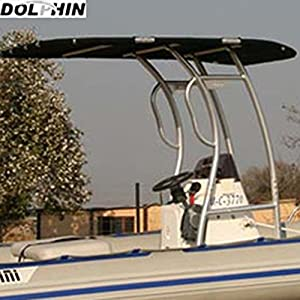 Dolphin Pro S2 T-TOP Malignant Canopy, Anodized Aluminum for Center Console Fishing Boats
