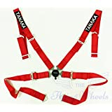 Tanaka Red 4-point Camlock Racing Harness Seat Belt One Set