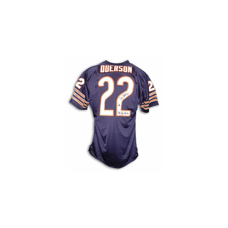 new style 9c6eb b2869 Autographed Dave Duerson Chicago Bears Navy Blue Throwback ...