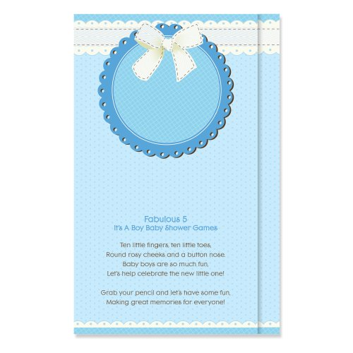 Fabulous 5 - It'S A Boy Baby Shower Games (Set Of 12)