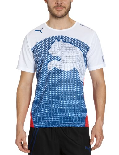 Puma Evospeed Cat Graphic-Maglietta a maniche corte da uomo bianco Bianco - bianco/rosso M