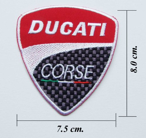 Cheap DUCATI CORSE EMBROIDERED IRON ON PATCH.