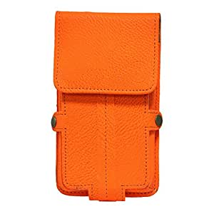 Jo Jo A6 G8 Series Leather Pouch Holster Case For ZTE Blade L5 Plus  Orange