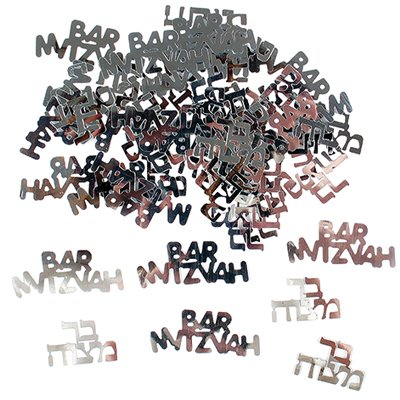 Bar-mitzvah Confetti (Silver) - 1