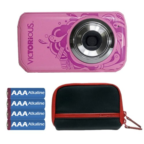 Victorious 2.1Mp Digital Camera In Pink With Camera Case And Aaa Batteries