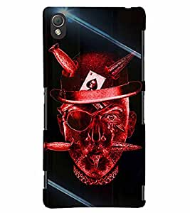 PrintVisa Cool Boy Gambler 3D Hard Polycarbonate Designer Back Case Cover for Sony Xperia Z3